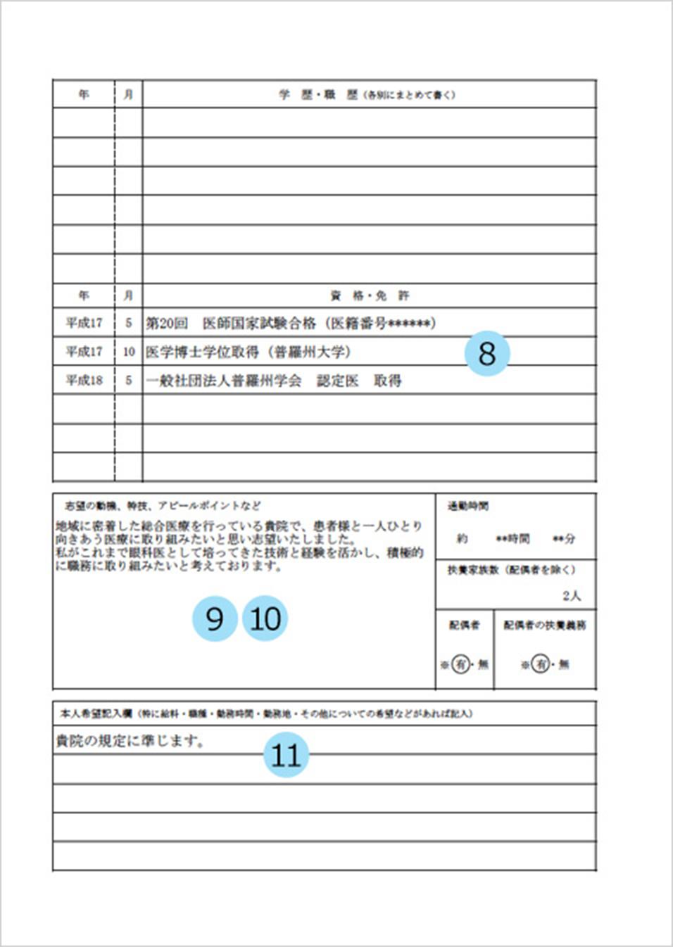 免許 履歴 書
